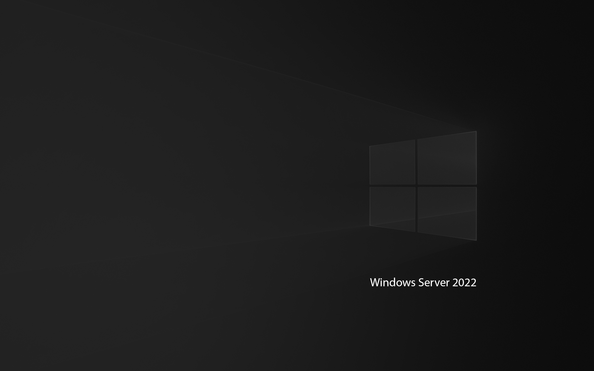 Windows Server 2022 Wallpaper Dark Mode Black