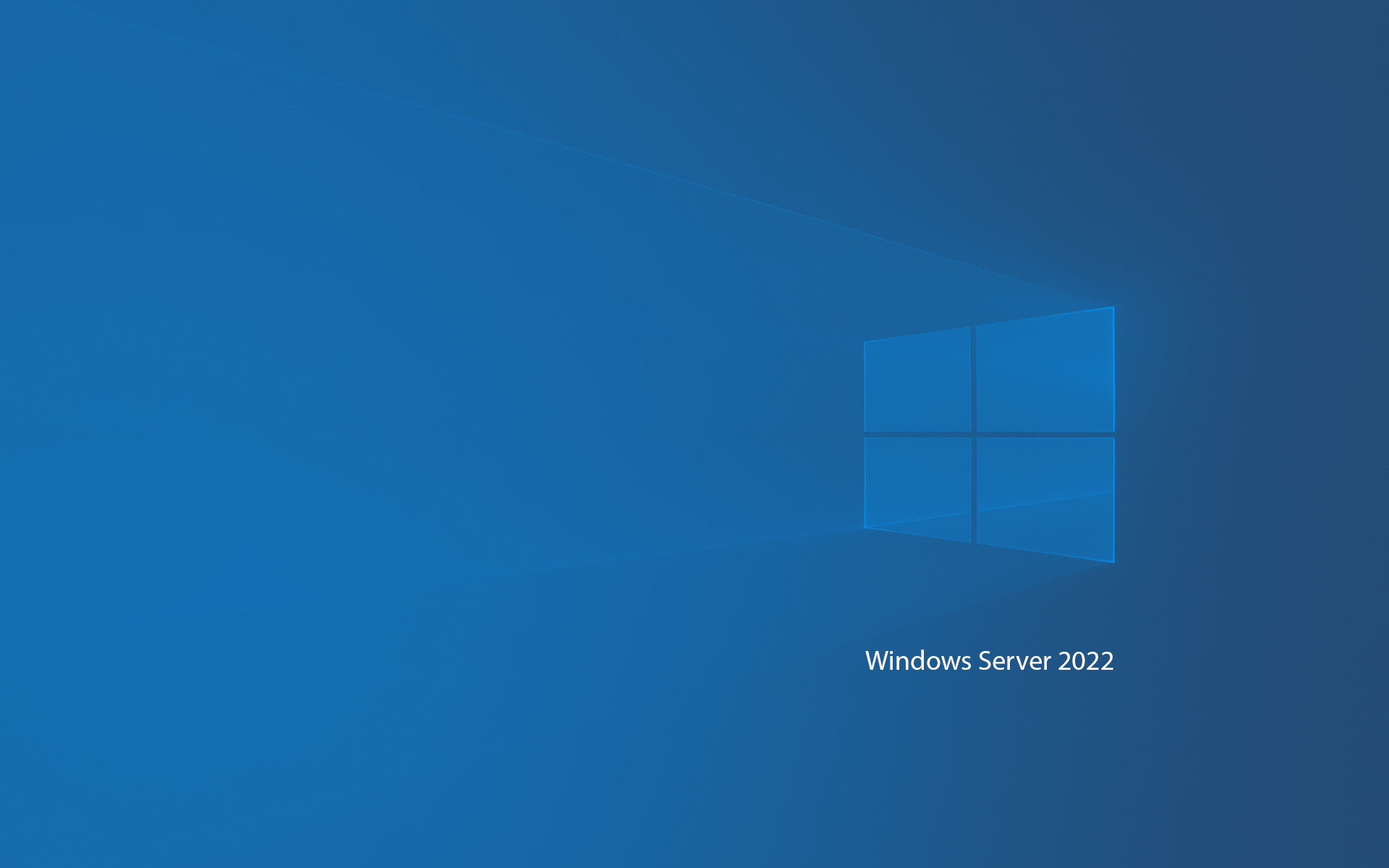 Windows Server 2022 Wallpaper Classic Blue